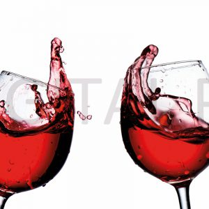 Glas Motiv Rotweingläser 2