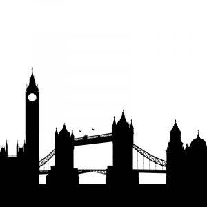 Glas Motiv Skyline London