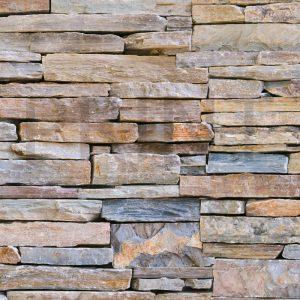 Glas Motiv Steinmauer 3