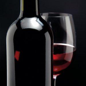 Glas Motiv Weinflasche 1